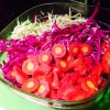 Raw Rainbow Coleslaw with Cashew Dressing