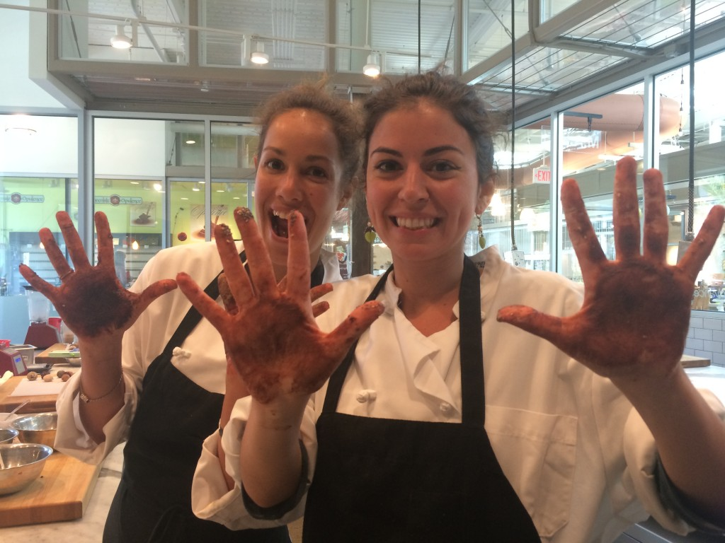 More chocolate hands