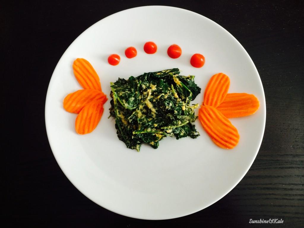 Lacinato kale with Cashew Bechamel Sauce-SAK