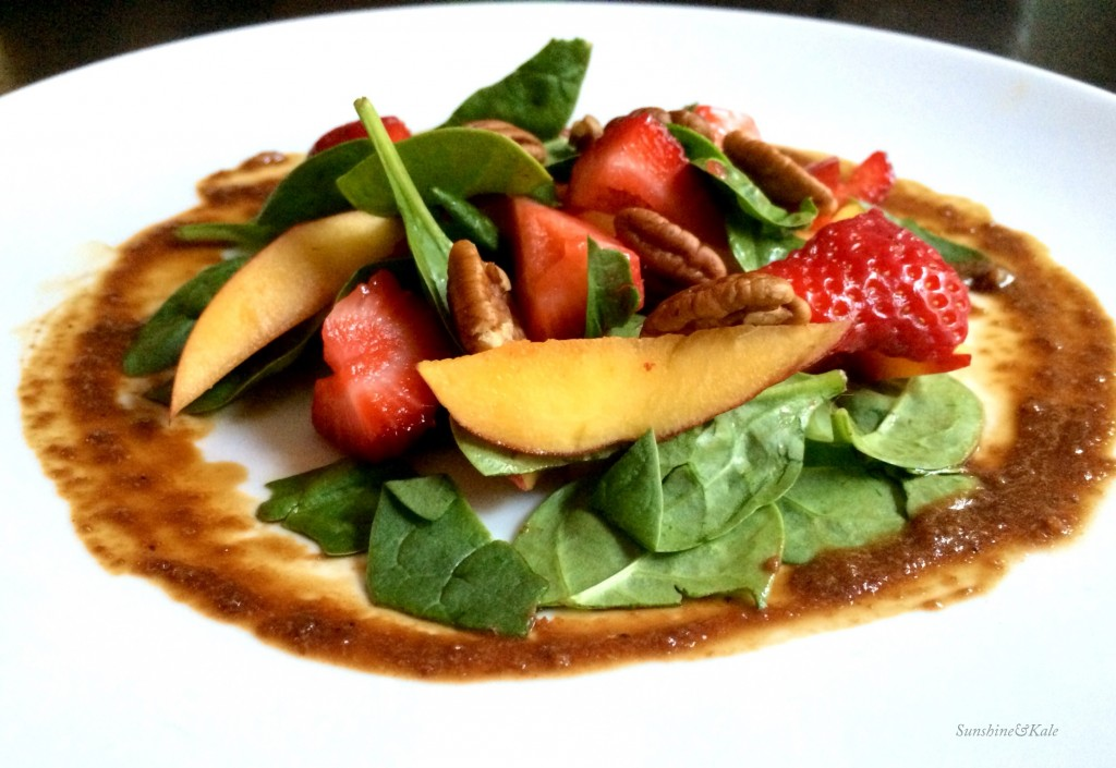 Spinach Salad with Strawberries, Nectarines and No-Oil Sweet Balsamic Dressing- SAK.JPG
