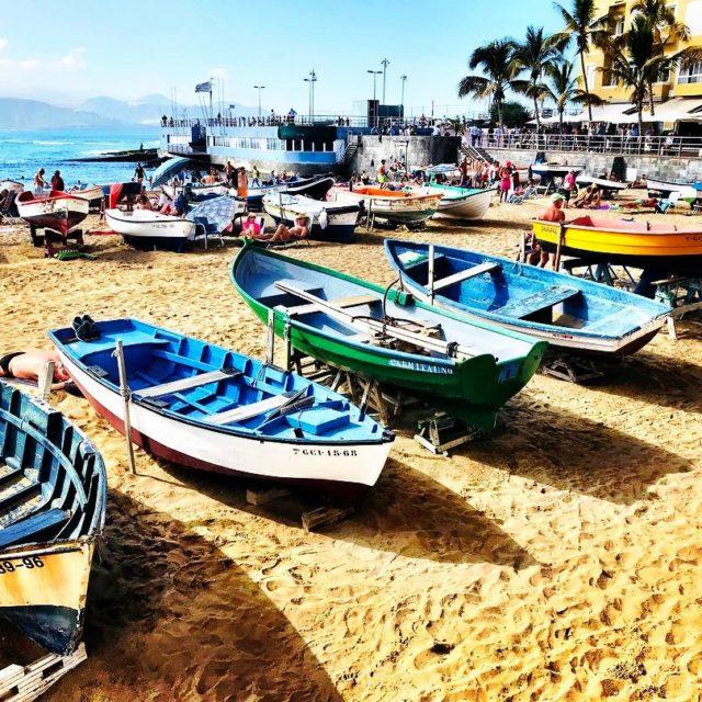 Beautiful Playa De Las Canteras  Gran Canaria  Spainhellip