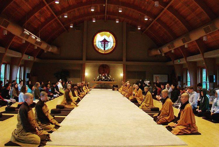 I'll be in this meditation hall all day tomorrow #deerparkmonastery #thichnhathanh #peaceistheway #peaceiswithin #mindfulness #meditate #meditateeveryday #buddhism #meditation