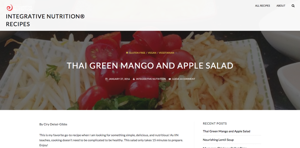 IIN Thai Mango Apple Salad