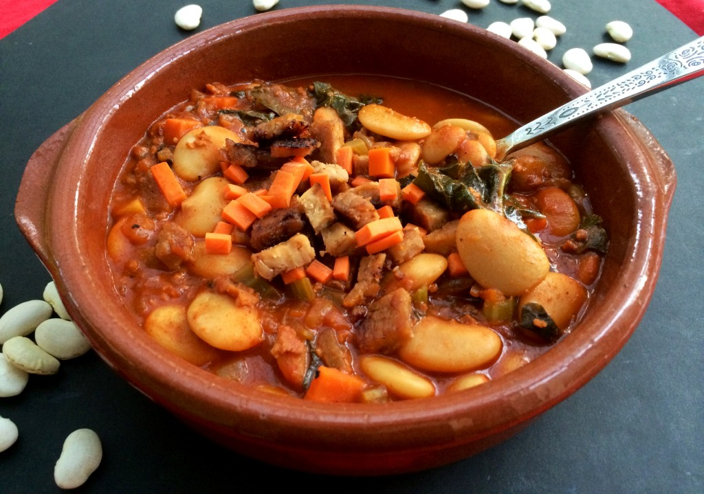 Vegan Fabada Asturiana with Kale