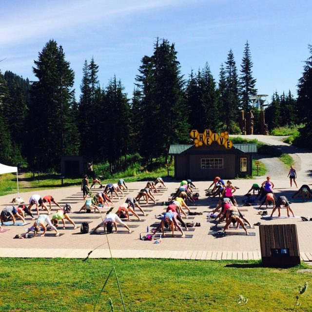 Free yoga at the top of Grouse Mountain seawheeze yogahellip
