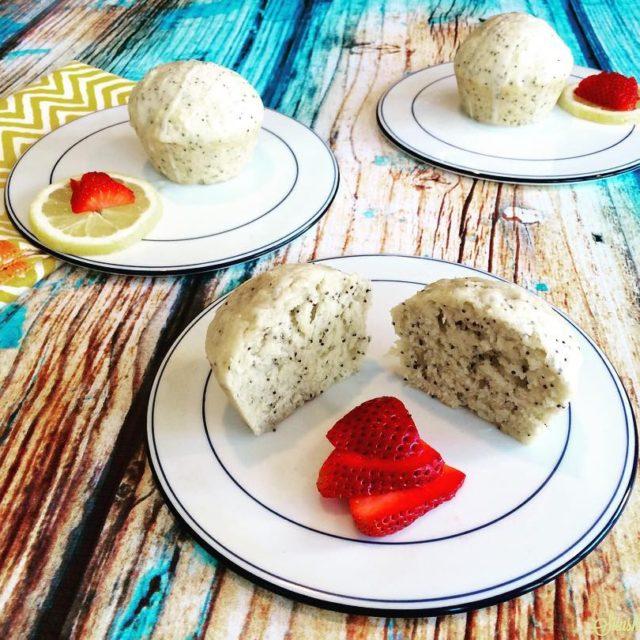 Lemon Poppy Seeds Aquafaba Muffins with a Lemon Glaze vegandessertshellip