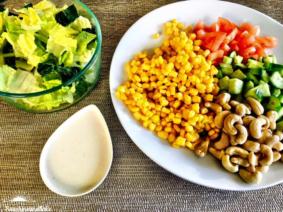 SL Fiesta Salad with Vegan Ranch Dressing