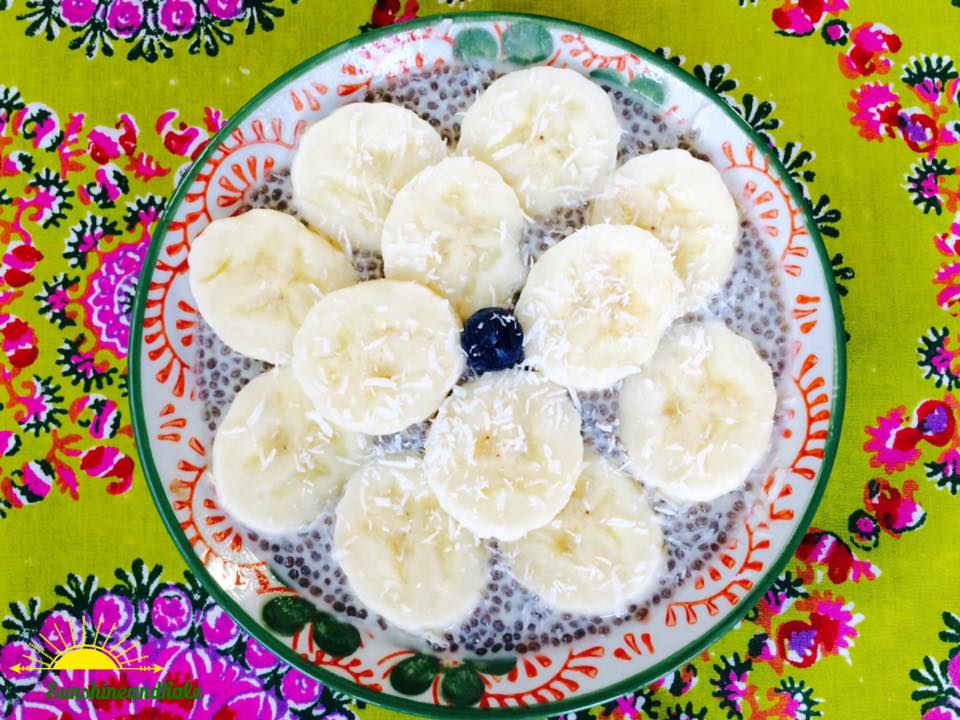 Vanilla Chia Pudding with Banana and Coconut