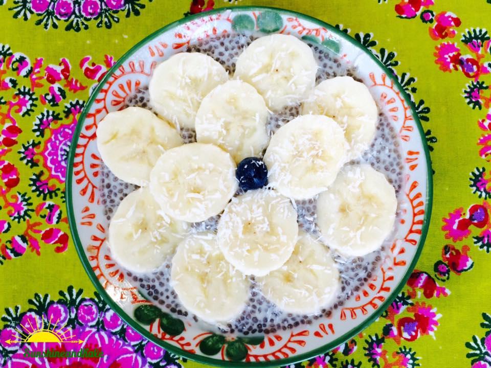 Vanilla Chia Pudding with Banana and Coconut