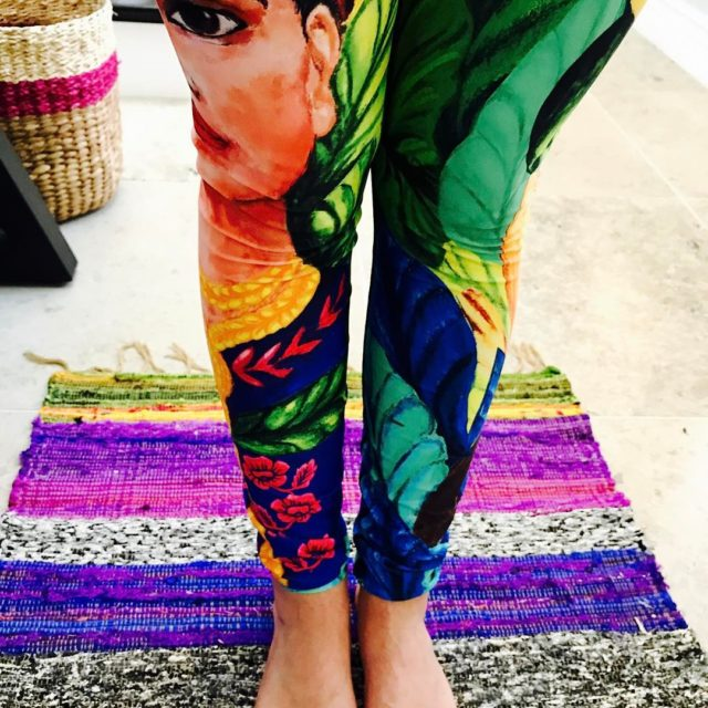 My new ridiculously beautiful Frida Yoga Leggings yogademocracy yoga yogaleggingshellip